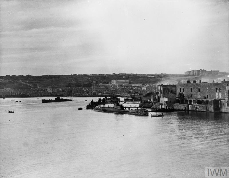 BRITISH SUBMARINE BASE AT MALTA. 26, 27 AND 28 JANUARY 1943, MALTA, HMS TALBOT, THE BRITISH SUBMARINE BASE AT MALTA.