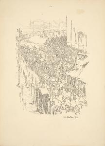 Sketch of a Head Count of Prisoners of War at Alexandra Palace Prior to Repatriation