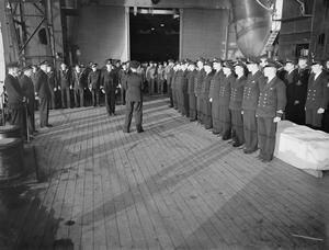 ON BOARD THE AIRCRAFT CARRIER HMS ARGUS. 1940.