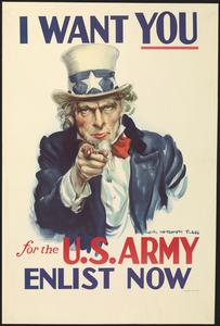I Want You for the US Army - Enlist Now