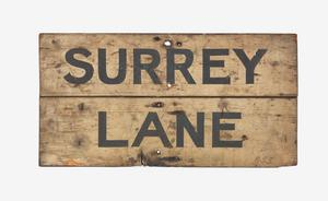 trench sign, Surrey Lane