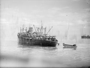 NORTH AFRICAN OPERATIONS. BRITAIN'S ROYAL NAVY HAD A MAJOR ROLE IN THE WORLD'S GREATEST COMBINED OPERATION WHEN THE 500 SHIP CONVOY SAFELY TRANSPORTED ALLIED TROOPS TO FRENCH NORTH AFRICA, WHERE SIMULTANEOUS LANDINGS WERE MADE AT STRATEGIC POINTS. NOVEMBER 1942.