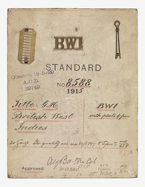 badge, unit, Colonial, standard pattern, West India Regiment