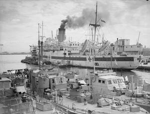 SHIPS OF WAR AND MERCY. 24 MARCH TO 1 APRIL 1943, AT ALGIERS HARBOUR.