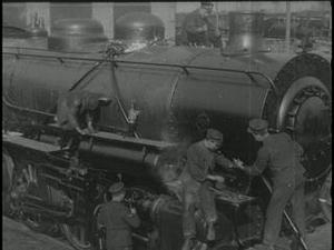 RAILWAYMEN IN FRANCE [Main Title]