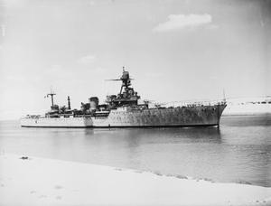 FRENCH FLEET DEPARTURE FROM ALEXANDRIA. 23 JUNE 1943, SUEZ CANAL.