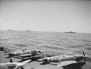 """BIG BRITISH SHIPS IN THE IONIAN SEA AS INVASION OF SICILY BEGAN. 10 TO 16 JULY 1943, ON BOARD HMS FORMIDABLE. BIG SHIPS OF FORCE """"H"""" WERE IN THE IONIAN SEA AT THE START OF THE SICILY INVASION."""