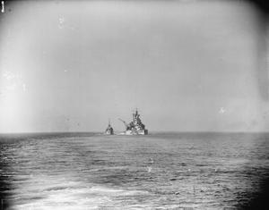 BIG BRITISH SHIPS IN THE IONIAN SEA AS INVASION OF SICILY BEGAN. 10 TO 16 JULY 1943, ON BOARD HMS FORMIDABLE. BIG SHIPS OF FORCE