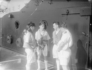 THE FLEET AIR ARM AT WORK. 20 TO 30 MAY 1943, GIBRALTAR, ON BOARD HMS FORMIDABLE.