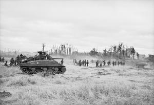 The advance on Caen, Normandy, July 1944