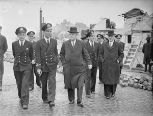 NEW ZEALAND HIGH COMMISSIONER INSPECTS NAVAL PERSONNEL. 2, 3 AND 6 JUNE 1943, HMS BEEHIVE AND HMS MIDGE. THE HIGH COMMISSIONER FOR NEW ZEALAND, MR W J JORDAN, TOGETHER WITH THE MINISTER FOR DEFENCE, THE HON FREDERICK JONES, VISITED BASES OF LIGHT COASTAL FORCES ON THE EAST COAST AND INSPECTED NEW ZEALAND PERSONNEL.