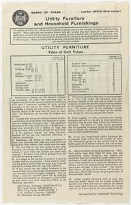 Post War Papers Issued for the Purchase of Utility Household Furnishings, and Ration Books