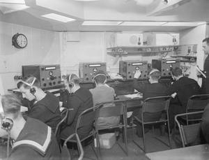 HMS HILARY, THE COMBINED OPERATIONS HEADQUARTERS SHIP. 16 JUNE 1943, GREENOCK.