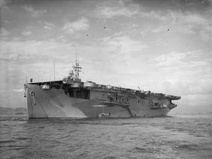 HMS ATTACKER, AUXILIARY AIRCRAFT CARRIER. 24 JUNE 1943, GREENOCK.