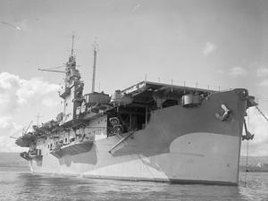 HMS ATTACKER, AUXILIARY CARRIER, COMMANDED BY CAPTAIN W W P SHIRLEY, RN. 7 JULY 1943, GREENOCK.