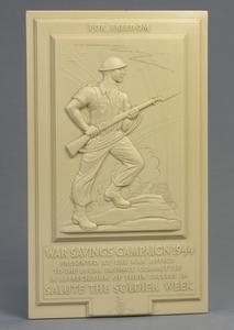 war savings commemorative plaque, British