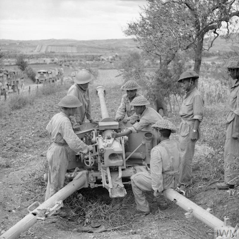 German 50 Mm Anti Tank Gun: Gurkhas Of The 2/6th Gurkha Rifles Inspect A Captured