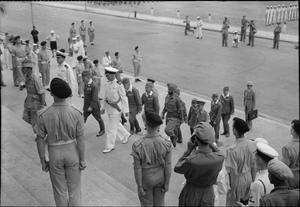 SIGNING OF THE JAPANESE SURRENDER AT SINGAPORE, 1945