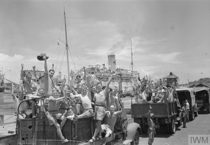 THE RELEASE OF ALLIED PRISONERS OF WAR FROM CHANGI PRISON, 1945