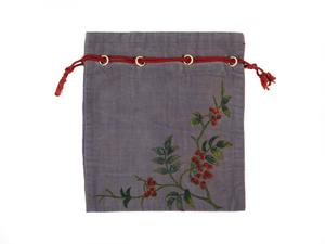 Bag, painted velvet