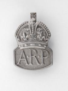 badge, lapel, British, Air Raid Precautions