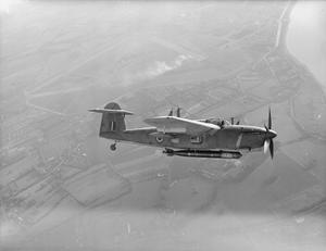 THE BARRACUDA, THE NAVY'S NEW TORPEDO BOMBER. 10 NOVEMBER 1943, LEE-ON-SOLVENT FLEET AIR ARM STATION. THE FAIREY BARRACUDA TORPEDO BOMBER IS A COMBINATION OF DIVE AND TORPEDO BOMBER, AND IS THE NEWEST TO COME INTO SERVICE WITH THE FLEET AIR ARM.