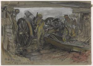 No.2 Gun in Action, September 1917