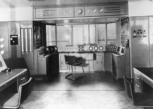 ADMIRALTY GAS TURBINE TEST HOUSE. DECEMBER 1952, A TEST HOUSE FOR SHORE TRIALS OF NAVAL GAS TURBINES AT THE NATIONAL GAS TURBINE ESTABLISHMENT.