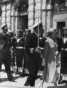 HER MAJESTY THE QUEEN AT MALTA. 3 MAY 1954, GRAND HARBOUR, MALTA. THE ARRIVAL OF THE QUEEN ON HER VISIT TO MALTA.