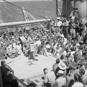 VOYAGE HOME FROM SINGAPORE FOR EX-PRISONERS OF WAR AND CIVILIAN INTERNEES
