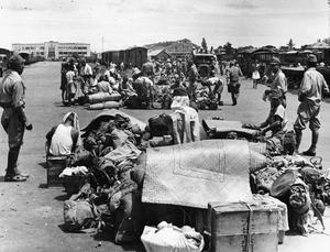JAPANESE TROOPS LEAVE BANGKOK, 1945
