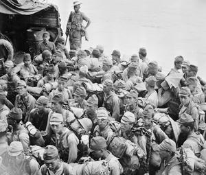 JAPANESE SURRENDER IN BURMA, 1945