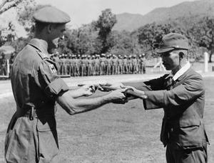 SURRENDER OF THE JAPANESE 33RD ARMY, 1945
