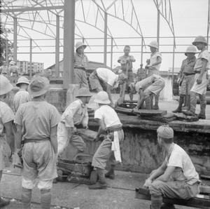 JAPANESE PRISONERS OF WAR IN SINGAPORE, 1945