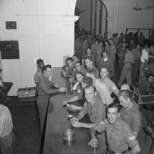 RELEASED BRITISH PRISONERS OF WAR AND CIVILIAN INTERNEES IN RANGOON, 1945