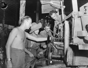 BRITISH AND INDIAN TROOPS LEARN CIVILIAN TRADES IN BURMA
