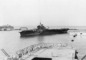 BIG SHIPS AT MALTA. OCTOBER 1943, ON BOARD HMS FORMIDABLE AT GRAND HARBOUR, VALLETTA, MALTA.