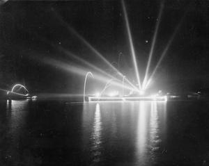 WITH THE ESCORT CARRIER HMS EMPRESS IN THE EAST. JULY AND AUGUST 1945, ON BOARD HMS EMPRESS. NIGHT CELEBRATION SCENES WITH THE BRITISH EAST INDIES FLEET AT TRINCOMALEE ON VJ NIGHT, AND OPERATIONAL PICTURES JUST BEFORE THE JAPANESE SURRENDER.