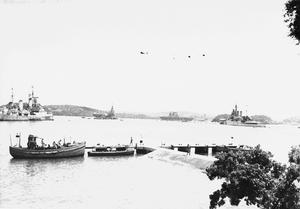 EASTERN FLEET BIG SHIPS AT TRINCOMALEE, 11 APRIL 1944.