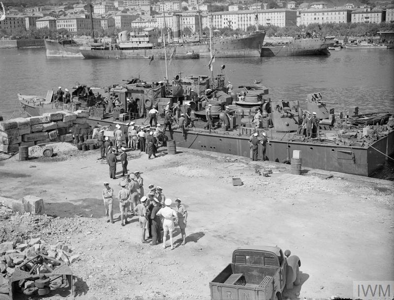 THE NAVY AT BASTIA. 1 JUNE 1944, ADVANCED COASTAL FORCES BASE, BASTIA, CORSICA