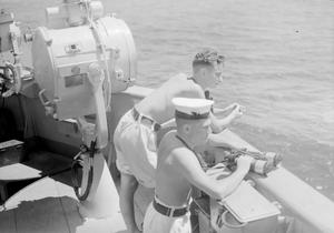 BEFORE THE ATTACK ON SURABAYA. MAY 1944 ON BOARD HMS RENOWN WITH THE EASTERN FLEET. THE DAYS BEFORE THE MAY 17TH RAID ON SURABAYA BY A MIXED BRITISH AND AMERICAN NAVAL AND AIR FORCE.