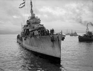 HMS KEPPEL, DESTROYER. 6 SEPTEMBER 1944, GREENOCK.