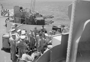 FLEET AIR ARM RAID ON PADANG. 23 AND 24 AUGUST 1944, ON BOARD HMS INDOMITABLE AT SEA. A CARRIER-BORNE FLEET AIR ARM ATTACK, SUPPORTED BY ALLIED UNITS OF THE EASTERN FLEET, WAS CARRIED OUT ON 24 AUGUST 1944 AGAINST THE LARGE INDAROENG CEMENT MANUFACTURING PLANT NEAR PADANG, ON THE WEST COAST OF SUMATRA. AND ALSO AGAINST EMMAHAVEN, THE PORT OF PADANG.