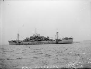 HMS GLENEARN, LANDING SHIP INFANTRY LARGE. 29 JULY 1944, GREENOCK.