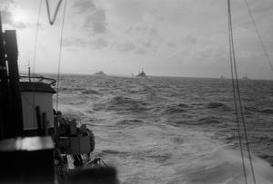 ON BOARD THE DESTROYER HMS RACEHORSE AS THE EASTERN FLEET WERE RETURNING FROM THE SABANG BOMBARDMENT. 25 TO 27 JULY 1944, AT SEA OFF SABANG.