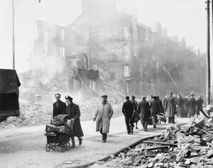AIR RAID DAMAGE IN GLASGOW DURING THE SECOND WORLD WAR