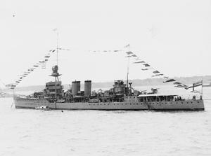 HMS DUNEDIN, D-CLASS LIGHT CRUISER