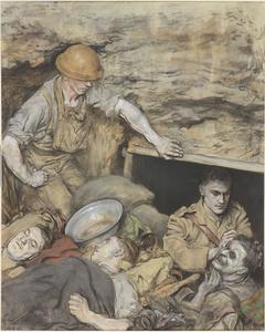 Operating on a Slightly Wounded Man in a Regimental Aid Post