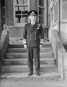 THE KING'S NEW NAVAL AIDE-DE-CAMPE. 19 JANUARY 1945, CHATHAM.