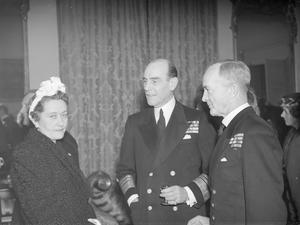 ALLIED NAVAL RECEPTION AT ADMIRALTY HOUSE. 9 FEBRUARY 1945, COMMANDER IN CHIEF AND NAVAL ATTACHES OF 12 ALLIED NATIONS WERE ENTERTAINED AT A RECEPTION GIVEN BY THE BOARD OF ADMIRALTY AT ADMIRALTY HOUSE.